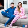Snug Snug Decke mit Ärmeln | Pyjama Blau M