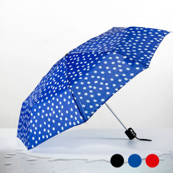 Polka Dot Folding Umbrella Blue