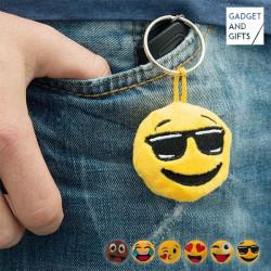 Emoticon Schlüsselanhänger aus Plüsch Cool
