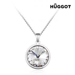 Hûggot Colgante Bañado en Rodio Balance Creado con Cristales Swarovski® (40 cm)