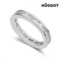 Hûggot Rhodinierter Ring mit Zirkoniasteinen Fashion 18,1 mm