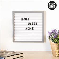 Quadro para Letras e Números Oh My Home (30 x 30 cm)