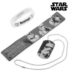 Pulseiras e Colar Stormtrooper (Star Wars)