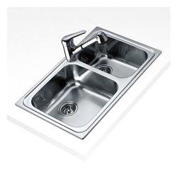 Lavello a Due Vasche Teka 11119006 CLASSIC 2C Acciaio inossidabile