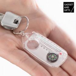 Porta-Chaves com Bússola, Lupa e Termómetro Gadget and Gifts
