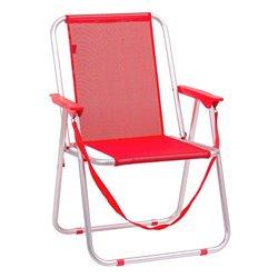 Sedia Pieghevole Juinsa Rosso Alluminio (55 x 43,5 x 75 cm)