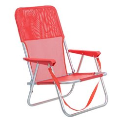 Sedia Pieghevole Juinsa Rosso Alluminio (54 x 40 x 71 cm)