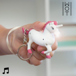 Wagon Trend Unicorn Keychain with LED and Sound
