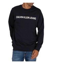 Felpa senza Cappuccio Uomo Calvin Klein CORE LOGO INTITUTIONAL J30 Marino L