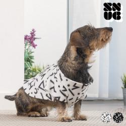 Couverture à Manches pour Chiens Symbols Snug Snug One Doggy Blanc
