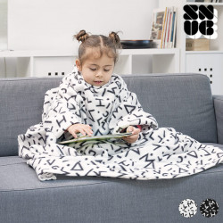 Manta com Mangas Infantil Symbols Snug Snug One Kids Preto