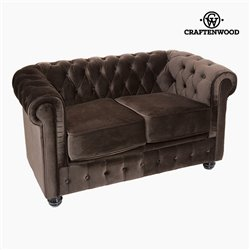Canapé Chester 2 places Velours Marron - Collection Relax Retro by Craftenwood