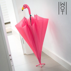 Parapluie avec Trépied Flamant Rose Wagon Trend