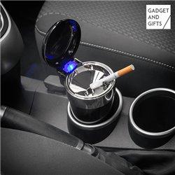 Gadget and Gifts Auto-Aschenbecher mit Deckel und Licht
