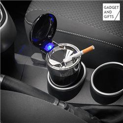 Posacenere con Coperchio e LED per Auto Gadget and Gifts