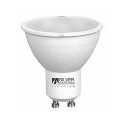 Dichroic Light Bulb Silver Electronics ECO GU10 4W Warm light 3000K