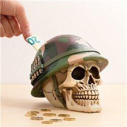 Tirelire Crâne Soldat