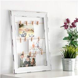 Cornice di Legno per Foto e Appunti Stendino (38 x 48 cm)