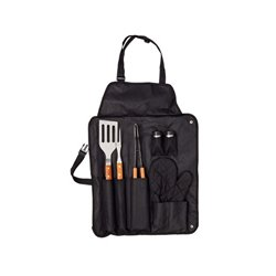 Apron with Barbecue Utensils (7 pcs) 143382 Black