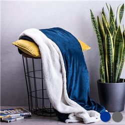 "Fleece Blanket (125 x 160 cm) 146045 ""Navy Blue"""