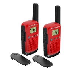 """Walkie-Talkie Motorola T42 PMR446 1,3"""" LCD 4 km Rosso (2 pcs) (Refurbished A+)"""