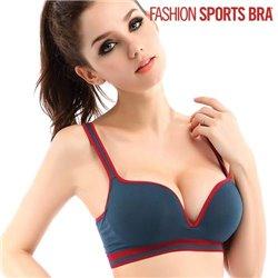Reggiseno Sport Fashion Blu Marino XL
