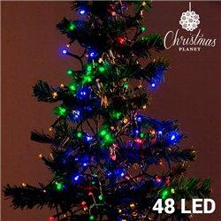 Luzes de Natal Policromáticas (48 LED)
