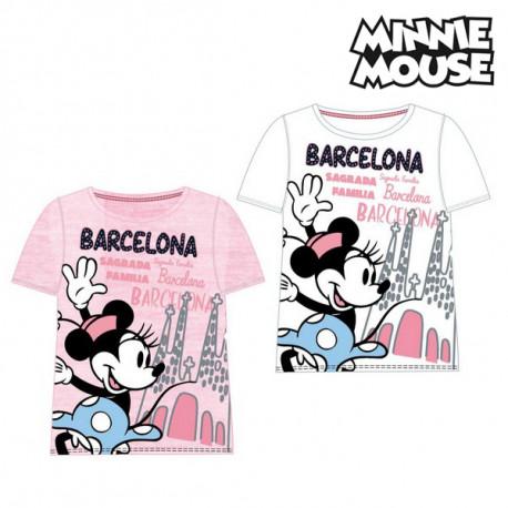 """Kurzarm-T-Shirt für Kinder Barcelona Minnie Mouse Weiß """"8 Jahre"""""""