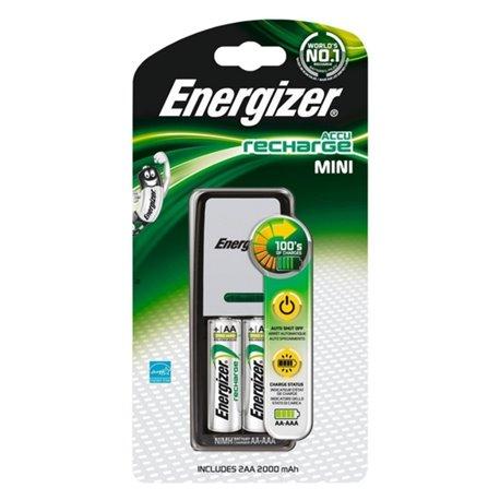 Caricabatterie + Batterie Ricaricabili Energizer ENE300321000 LR6 BL4 AA 2000 mAh
