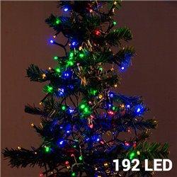 Multi-coloured Christmas Lights (192 LED)