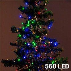 Multicoloured Christmas Lights (560 LED)