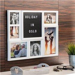 Porte-photos avec Panneau pour Lettres et Chiffres (6 Photos)