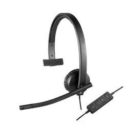 Auricolari con Microfono Logitech H570e Nero