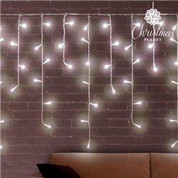 Luces de Navidad Blancas Carámbano Christmas Planet (200 LED)