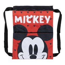 Zaino a Sacca per Bambini Mickey Mouse Rosso (27 x 33 x 1 cm)