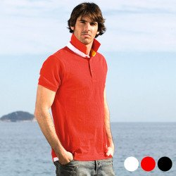 Herren Kurzarm-Poloshirt 143125 Rot XXL