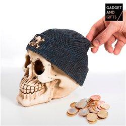 Spardose Totenkopf mit Piratenmütze