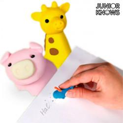 Gomas de Borrar Animales Junior Knows (pack de 4)