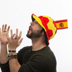 Bonnet Ballon de Football avec Drapeau Espagne en Relief