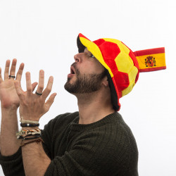 Gorro Balón de Fútbol con Bandera de España en Relieve Th3 Party