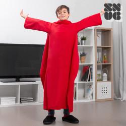 Cobertor Snug Snug com mangas para crianças Vermelho