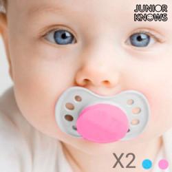 """Chupetas de Bebé (embalagem de 2) """"Cor de Rosa"""""""