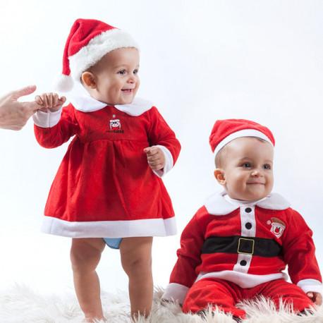 Disfarce de Pai Natal Infantil Niña