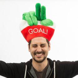 Kappe mit Fingern Italienflagge