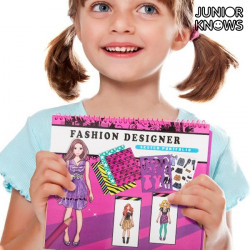 "Cuaderno de Moda para Niños Junior Knows ""Nail Studio"""