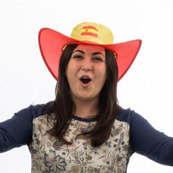 Faltbarer Hut mit Spanien-Flagge