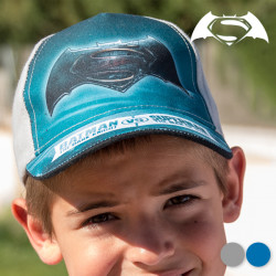 Gorra Infantil Batman vs Superman Gris