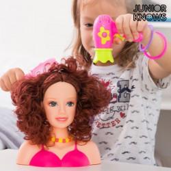 Frisierkopf-Puppe mit Zubehör