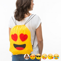Bolsa Mochila com Cordas Emoticons Poo