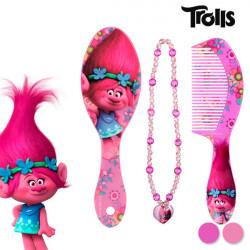 "Trolls Beauty Set für Mädchen ""Bürste+Rosa Kamm"""